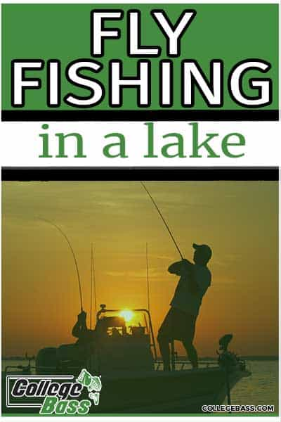 fly fishing in a lake