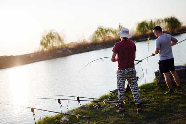 fly fishing and regular fishing