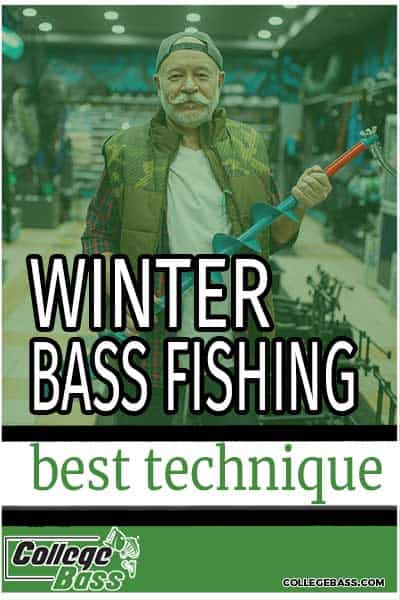 winter bass fishing best technique