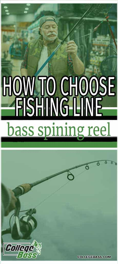 how to choose fishing line bass spinning reel