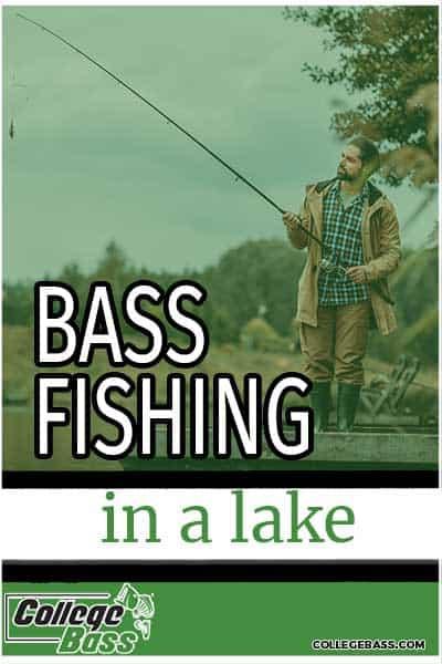 bass fishing in a lake