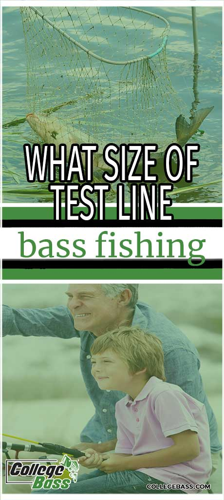 what size of test line bass fishing
